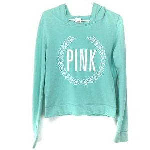 Green Victoria Secret Pink spellout sweatshirt